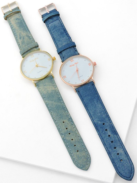Denim Band Watch - orangeshine.com