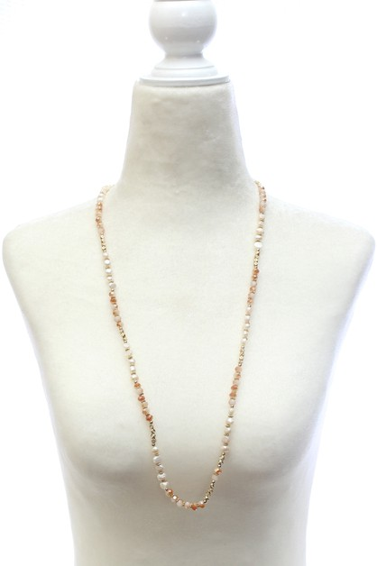 BEAD PEARL NECKLACE  - orangeshine.com