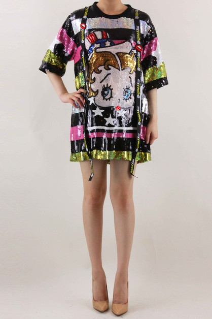 Graphic Print Dress - orangeshine.com