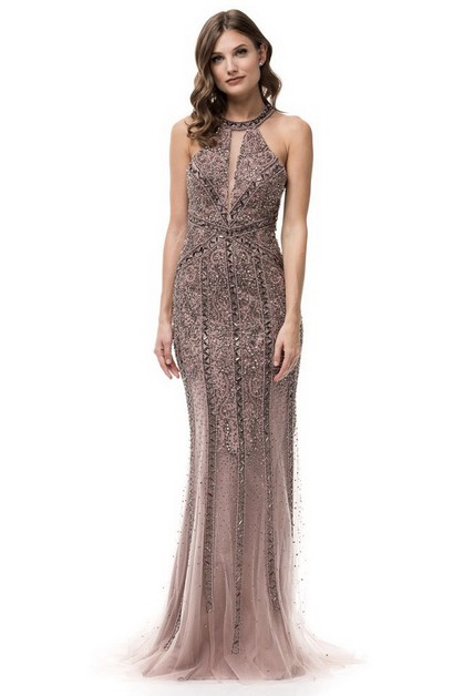 Halter Evening Dress - orangeshine.com