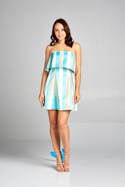Short Stripeless Dress - orangeshine.com