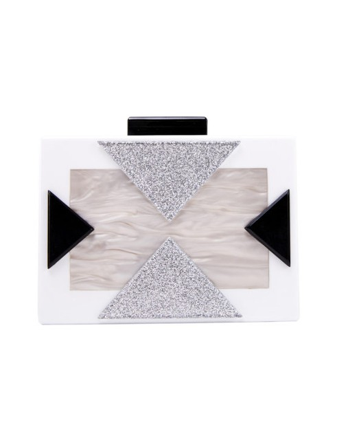 Triangular Abstract Clutch - orangeshine.com