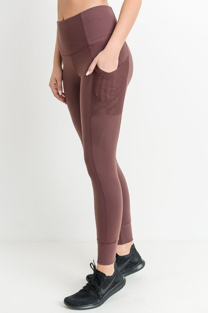 ELASTIC RIB DETAIL AND POCKET LEGGIN - orangeshine.com