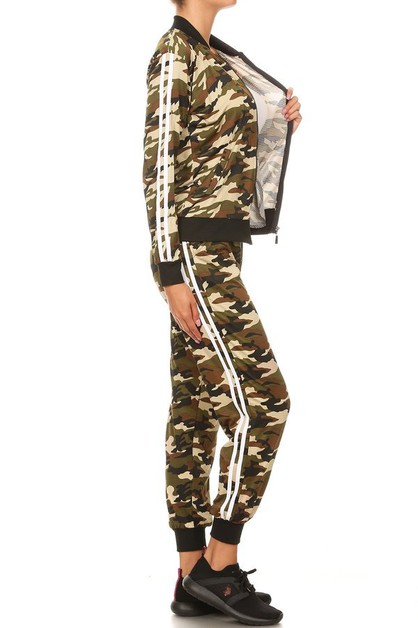 Camouflage jacket pants set  - orangeshine.com