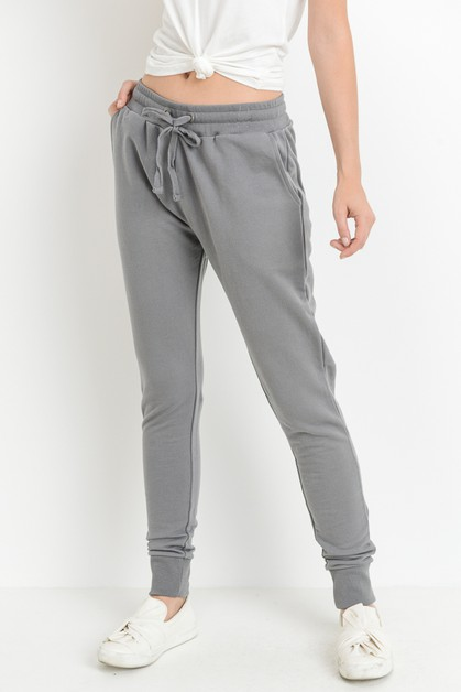 Essential Terry Drawstring Joggers - orangeshine.com