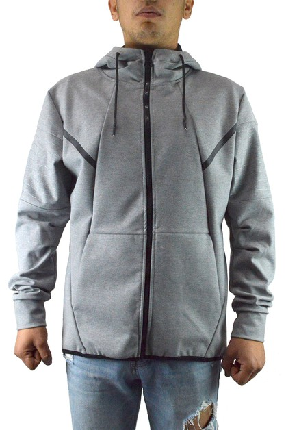 Casual Full Zip Up Hoodie Sweatshirt - orangeshine.com