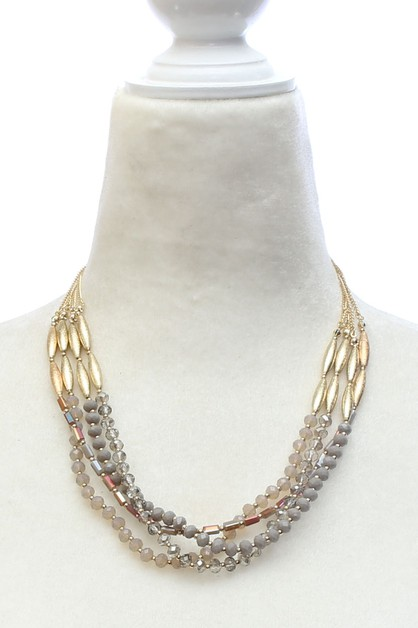 METGAL BEAD NECKLACE  - orangeshine.com