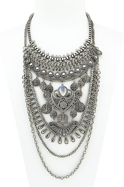 CHUNKY STATEMENT NECKLACE - orangeshine.com