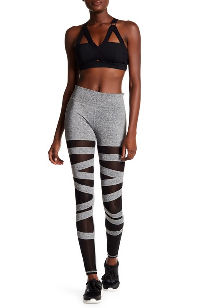 LA Society Active Mesh Panel Legging - orangeshine.com