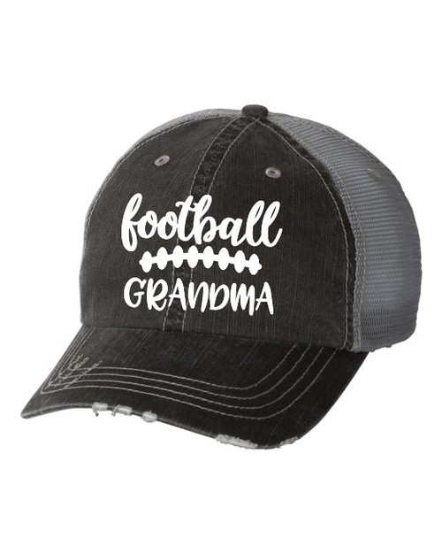 Football Grandma Trucker Hat - orangeshine.com