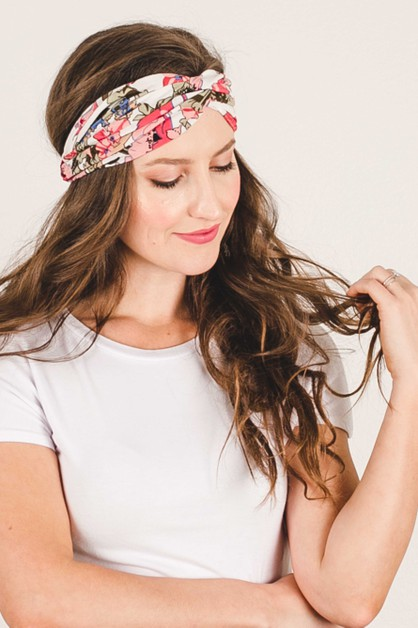 Summer Floral Turband Headband - orangeshine.com