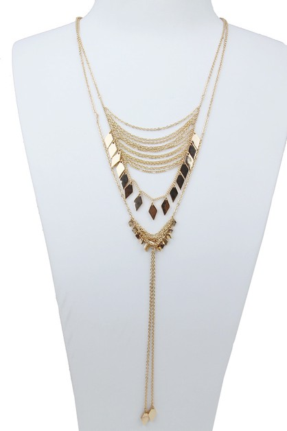 Multi Layered Fringe Necklace - orangeshine.com