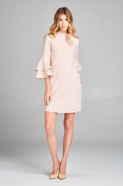CHARMING CHECKERED PLAID DRESS - orangeshine.com