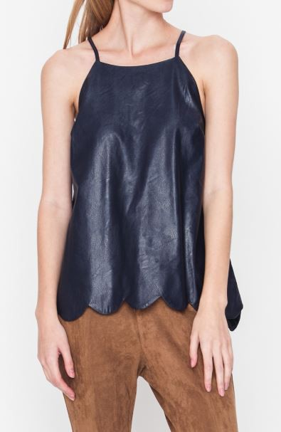 SOLID SLEEVELESS STRING TOP - orangeshine.com