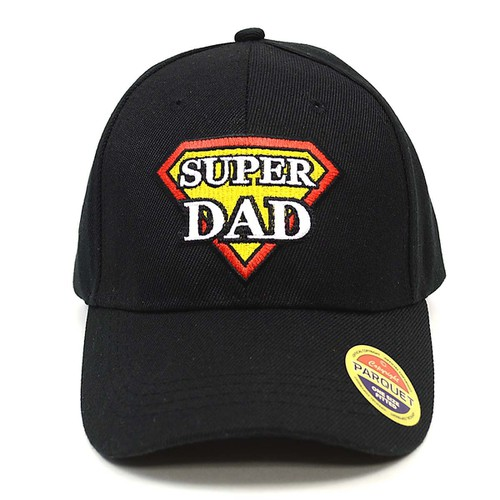 Super Dad Black Baseball Cap - orangeshine.com