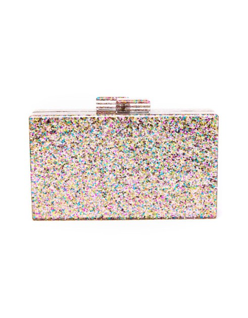 Glitter Covered Clutch  - orangeshine.com