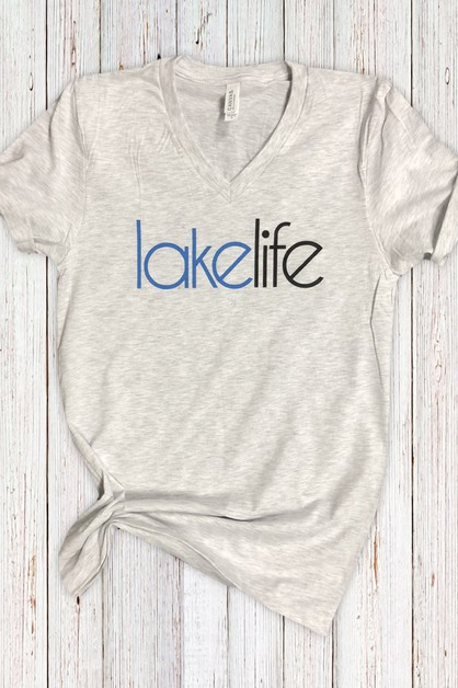 Lakelife V Neck Tee - orangeshine.com