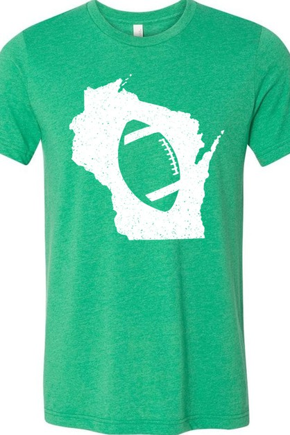 States of Football Wisconsin Tee - orangeshine.com