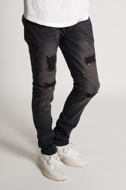 DISTRESSED SKINNY JEANS - orangeshine.com