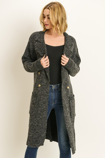 Buttoned long cardigan - orangeshine.com