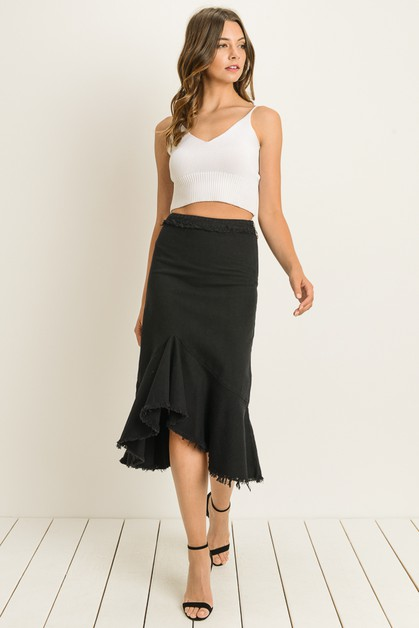 Frayed skirt - orangeshine.com