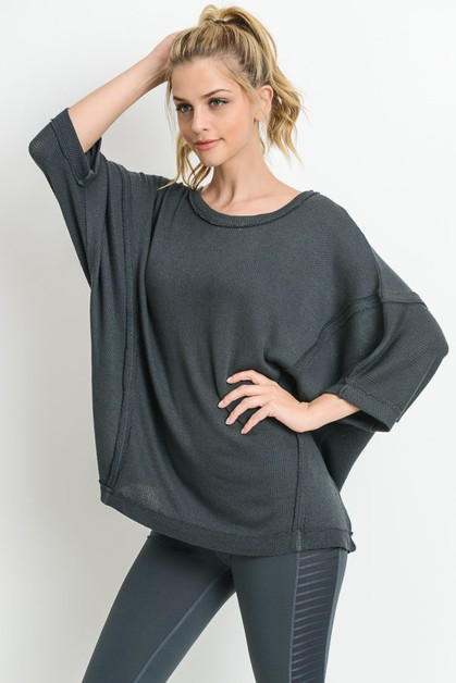 Dolman-Sleeve Hi-Lo Tunic Top - orangeshine.com