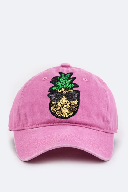 Toddler Size Pineapple Sequins Cap - orangeshine.com