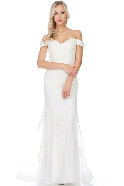 Off Shoulder Wedding Dress - orangeshine.com