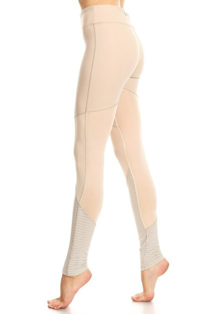 LA Society Active Mesh Legging - orangeshine.com