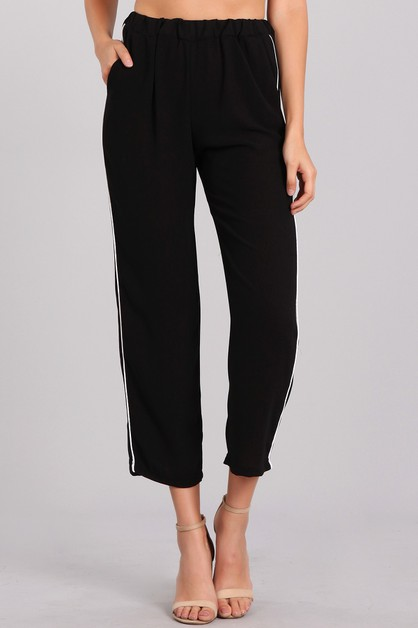 Cropped High Waisted Pants - orangeshine.com