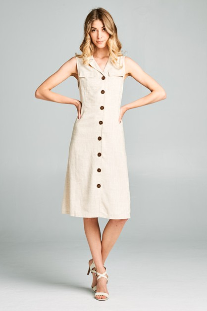JANE BUTTON DOWN DRESS - orangeshine.com