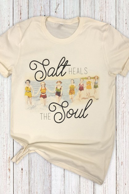 Salt Heals The Soul Cream Tee - orangeshine.com