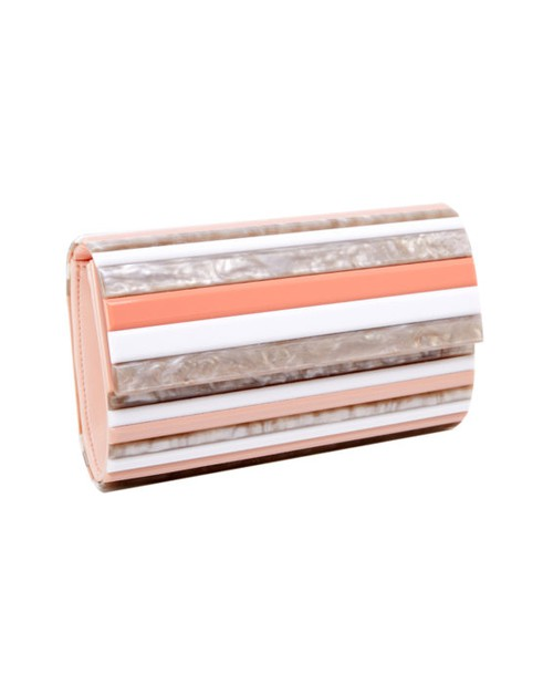 Retro Striped Clutched  - orangeshine.com