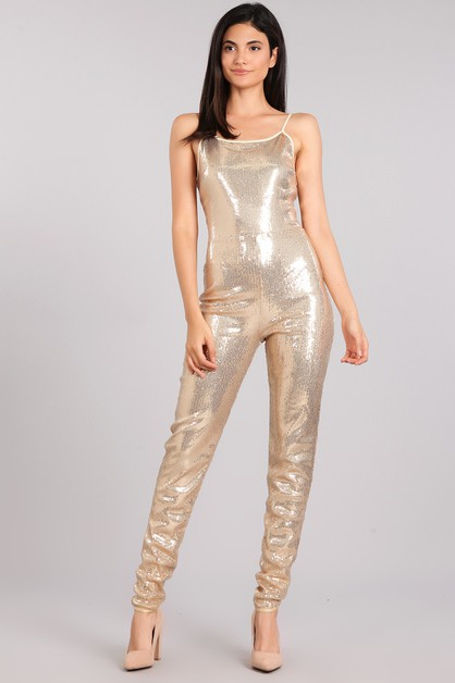 Sequin Jumpsuit - orangeshine.com