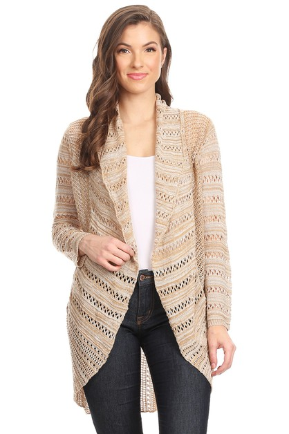 Knit Long Body Cardigan - orangeshine.com