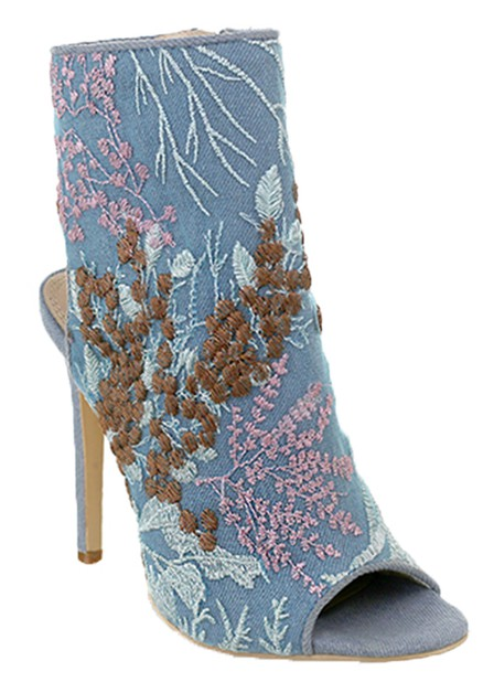 DENIM  PEEP TOE HIGH HEEL PRINTED AN - orangeshine.com