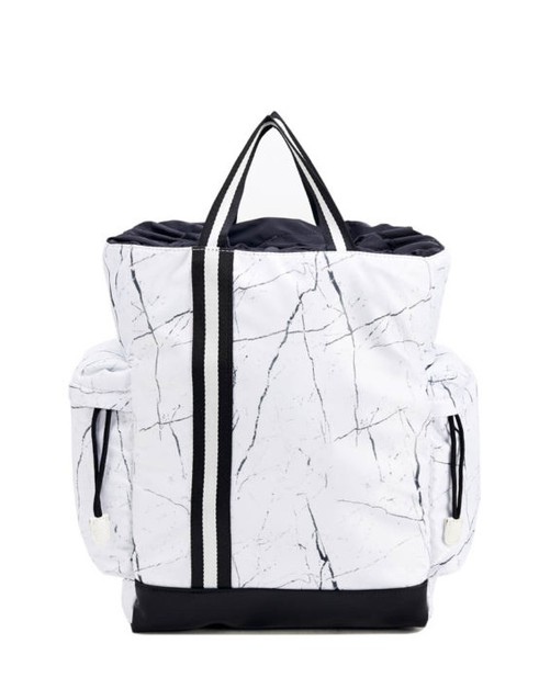 Sporty Marble Print Nylon Backpack  - orangeshine.com