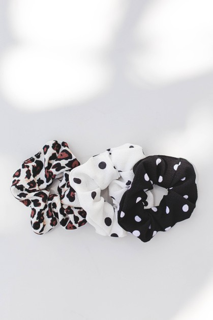 Multi Print Hair Scrunchie - orangeshine.com