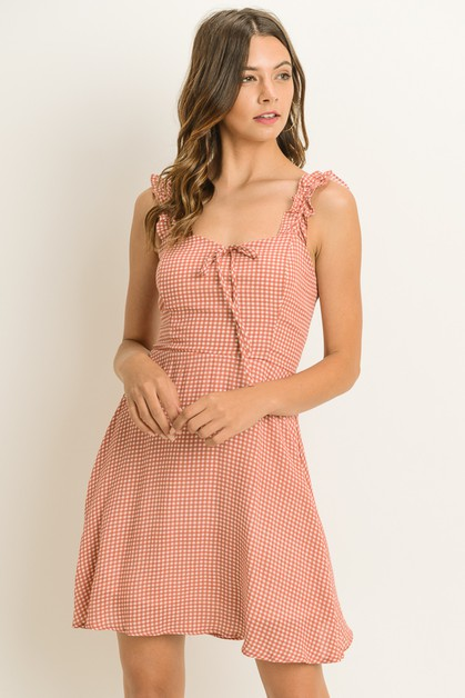 Ruffled strap dress - orangeshine.com