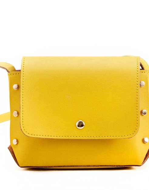 Small Vegan Leather Crossbody  - orangeshine.com