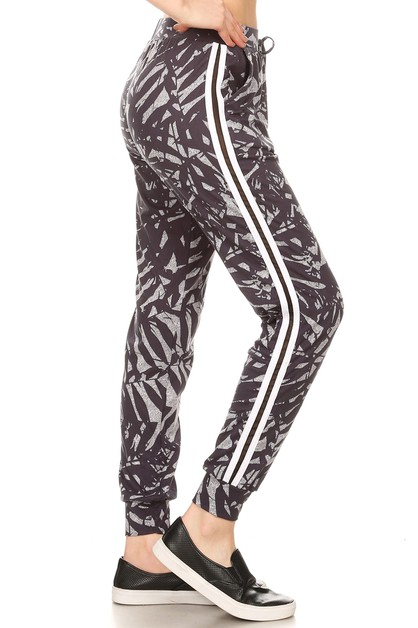 Tropical Floral joggers Sweatpants  - orangeshine.com