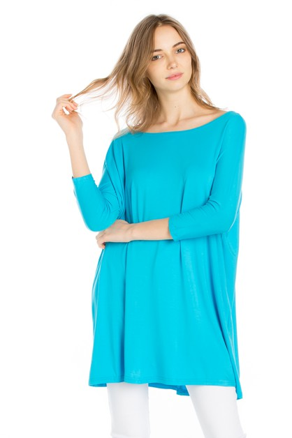 CASUAL OVER SIZE BAMBOO TUNIC - orangeshine.com