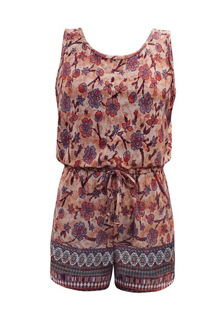 Girls Floral Rompers Kids Jumpsuits  - orangeshine.com