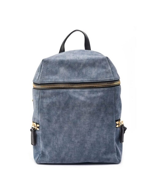 Unique Denim Textured  Backpack  - orangeshine.com