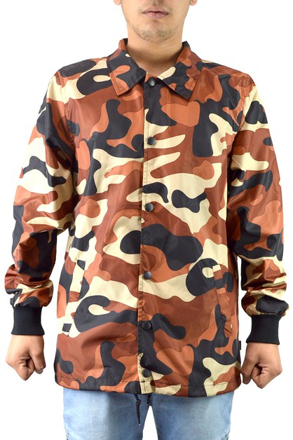 Lightweight Camo Coaches Jackets - orangeshine.com