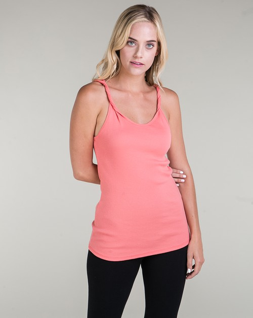TWIST SHOULDER TANK TOP - orangeshine.com