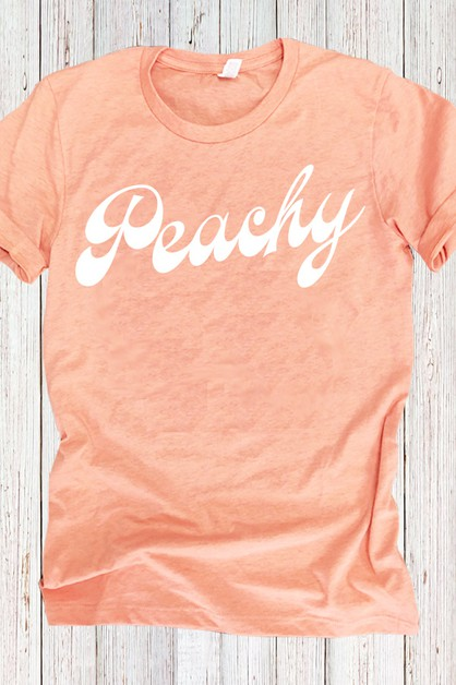 Peachy Bella Canvas Tee - orangeshine.com