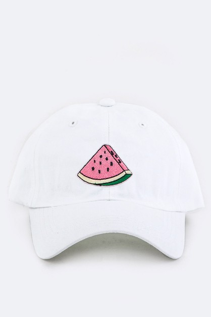 Kid Size Watermelon Embroidery Cap - orangeshine.com