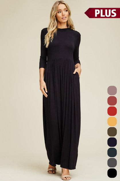 Plus Size Empire Maxi Dress - orangeshine.com