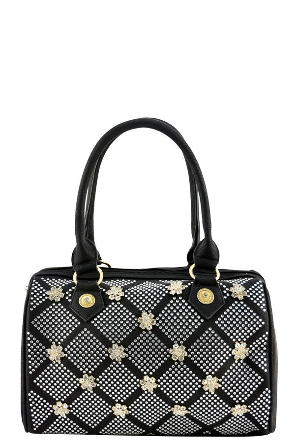 LANY RHINESTONE LARGE BOSTON BAG - orangeshine.com